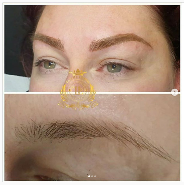 Microblading and shading eyebrow Healed
